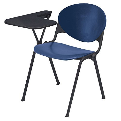 KFI Seating Polypropylene Stacking School Chair with Writing Tablet, Navy Finish, Right Tablet by KFI Seating