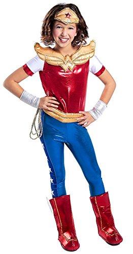 Girls Red And Gold Super Boots (Princess Paradise DC Super Hero Girls Premium Wonder Woman Costume, Red/Blue, Medium)