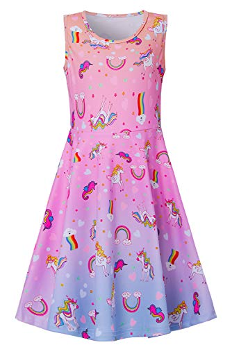 Unicorn Dresses for Little Girls Cute Seahorse Elf Daughter