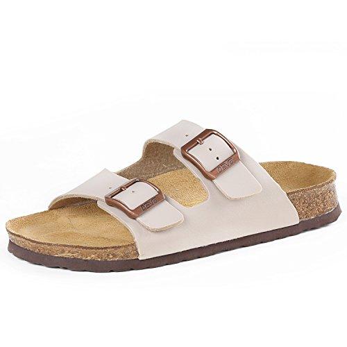Devo Women's Comfortable Cork Footbed Birkenstock-style Arizona Double Straps Sandals Flip Flops (6.5 B(M) US, Apricot)