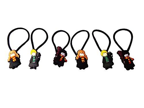 Lucius Malfoy Death Eater Costume (AVIRGO 6 pcs Elastic Hair Bands Hairband Hairbands Ponytail Holders Set # 254 - 5)