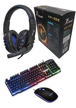 kit Gamer - Teclado + Mouse + Headset Led