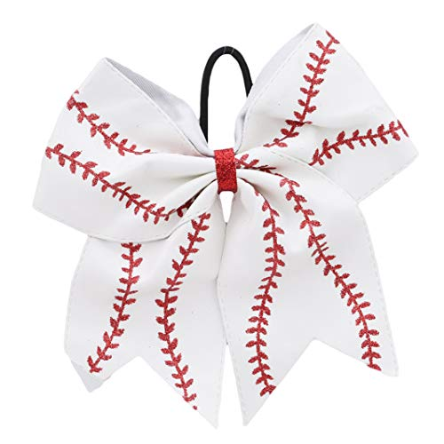 YouCY Bow Hair Ring Baseball Cheer Bow Hair Bow for Cheerleaders Girl Hair Accessories for -