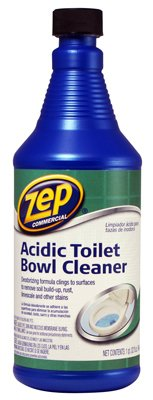Zep Commercial Acidic Toilet Bowl Cleaner, 32 Ounce