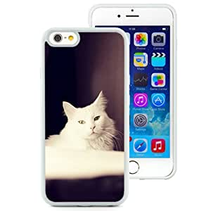 Furry White Cat (2) Durable High Quality iPhone 6 4.7 Inch TPU Phone Case