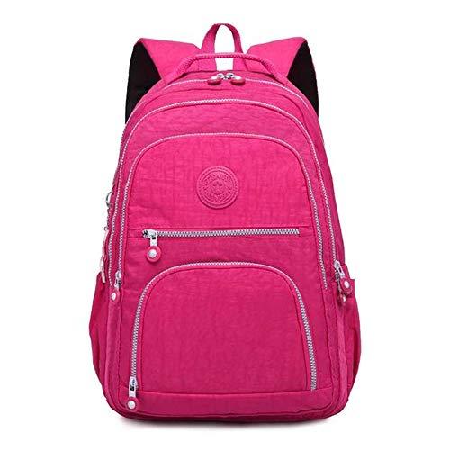 (Casual Original Women School Travel Bag Bagpack for Laptop KeychainWine Red311442cm)