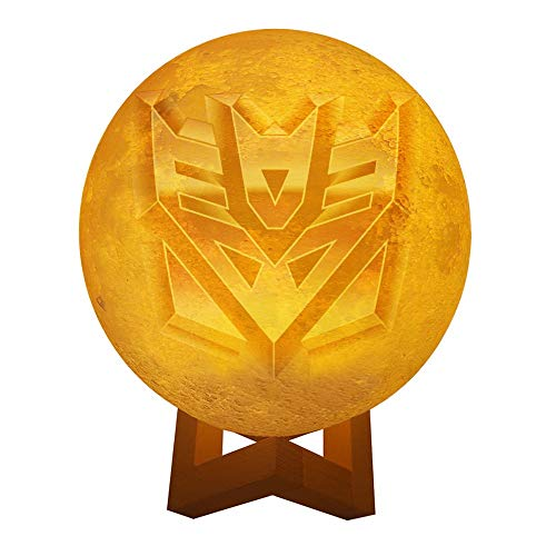 Transformers Decepticons Personalized Photo Night Light Customized 3D Printing USB Charging Moon Lamp Moon Light Night Light for Kids Gift for Women Mother's Day Gift (Light Transformer Lunar)