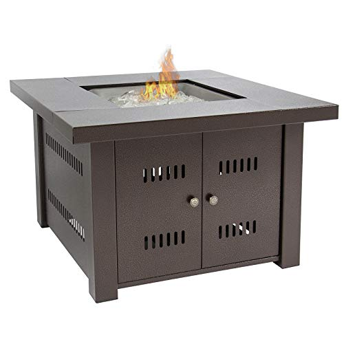 Gas Outdoor Fire Pit Table with...
