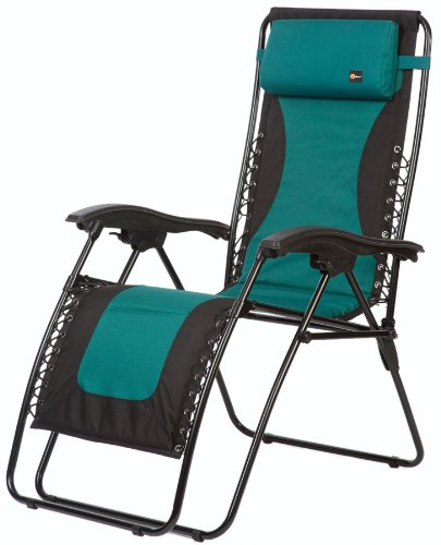 Faulkner 48976 Laguna Style Dual Green Padded Recliner with Plastic Armrests, X-Large