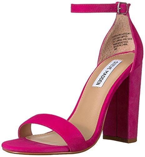 Steve Madden Women's Carrson Heeled Sandal, hot Pink, 10 M US