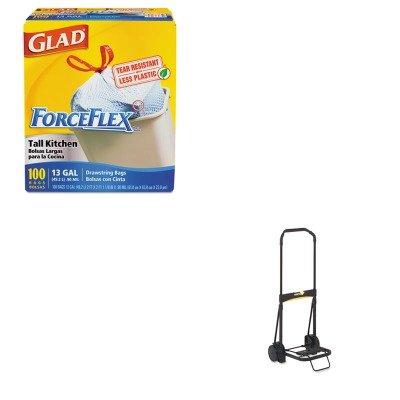 kitcox70427ktklglc200-value-kit-kantek-ultra-lite-folding-cart-ktklglc200-and-glad-forceflex-tall-ki