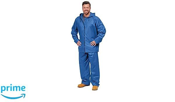 Galeton 7955-L-GR 7955 Repel Rainwear PVC On Nylon Flexible Rain Suit Large Green