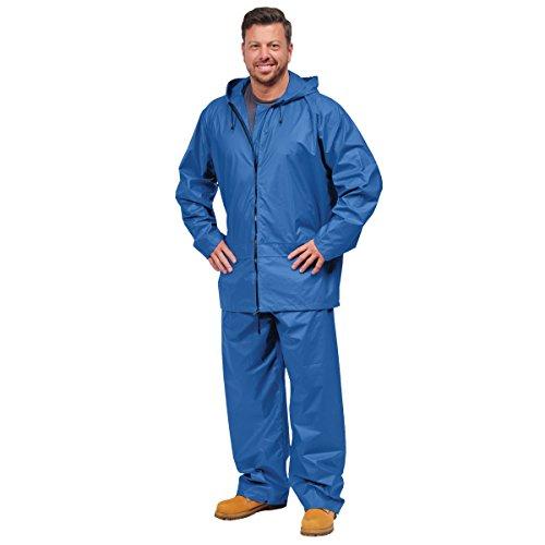 Galeton 7955-XXXL-BL 7955 Repel Rainwear PVC on Nylon Flexible Rain Suit, 3X-Large, Blue