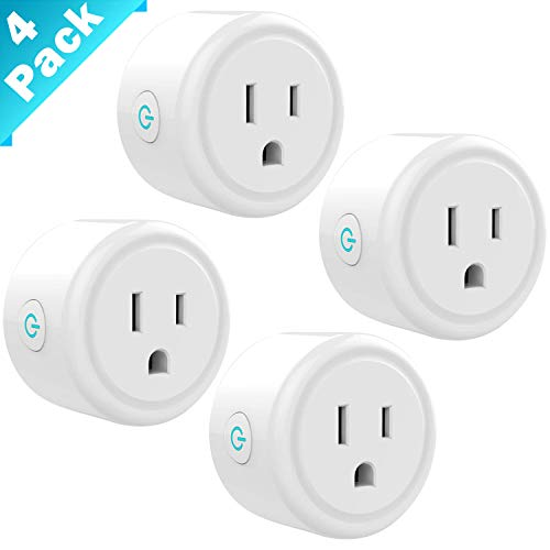HOODO Mini Smart Plug Wifi Outlet 4 Pack,Timer Outlet,Compatible with Alexa and Google Home & IFTTT,APP Remote Control from Anywhere,Fire Retardant Material,Space Saving,No Hub Required