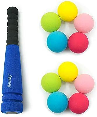 Aoneky Mini Set de Béisbol de Espuma para Niños - Bate y Pelota ...