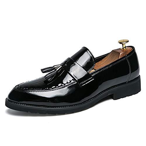 Xujw-shoes, 2018 Scarpe Stringate Basse Business Oxford da uomo Set di scarpe con frange spesse casual, scarpe formali in vernice (Color : Nero, Dimensione : 42 EU) Gloss Black