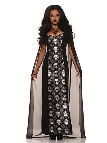 Underworld Vampire Costume (Underwraps Mortalia Dress Womens Costume, Large 12-14)