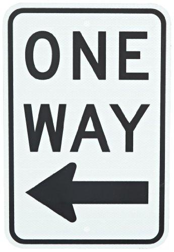 Tapco R6-2L Engineer Grade Prismatic Rectangular Lane Control Sign, Legend