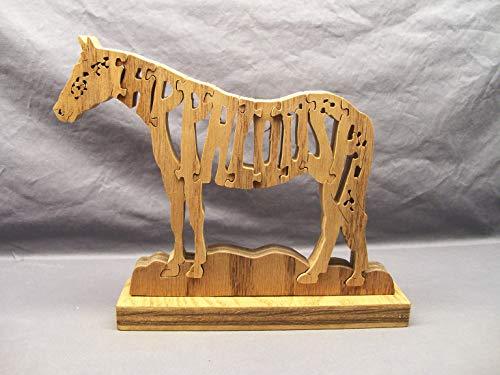 Handmade Wooden Appaloosa Horse Puzzle