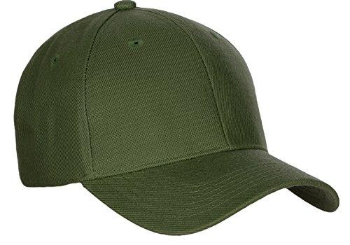 D&I Basic Baseball Cap Velcro Closure Curved Visor (Olive Baseball Hat)