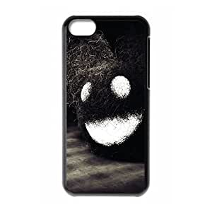 iPhone 5c Cell Phone Case Black Dark Happy Face OJ633464