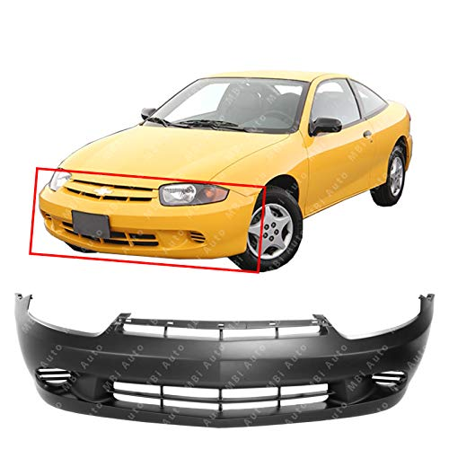 - MBI AUTO - Primered, Front Bumper Cover Fascia for 2003 2004 2005 Chevy Cavalier Base LS w/Out Fog 03 04 05, GM1000662