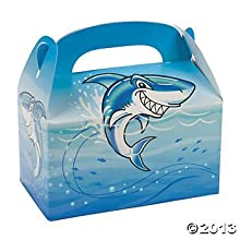 Shark Birthday Party Treat Boxes - 12 ct