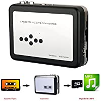 Enegg Cassette Tape To MP3 Converter USB Digital Cassette Player With Headphones - Supports Plug, Play Directly Tape to TF Card/Micro SD Function