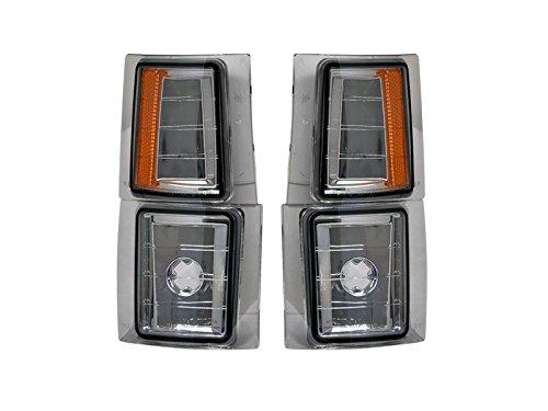 Autobotusa Smoke Amber Lens Signal Parking Corner Light Lamp 94-00 Chevy C10 C/K Pickup/Suv