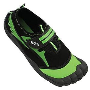 Rockin Footwear Womens Aqua Foot Water Shoes (9, Black)