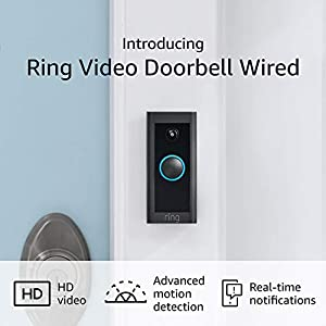 Introducing Ring Video Doorbell Wired with Plug-In Adapter – Convenient, essential features in a slimmed down design (Plug-In or use existing doorbell wiring) - 2021 release