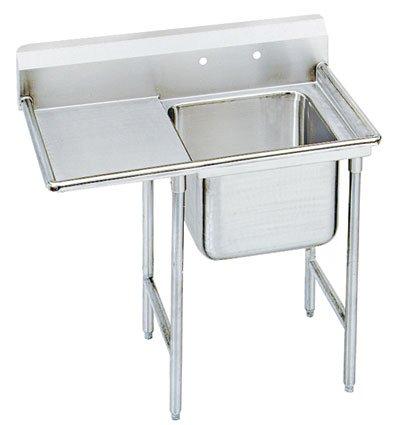 """Advance Tabco 54"""" Regaline One Compartment Sink w/ Single Drain Board Model 9-41-24-24L"""