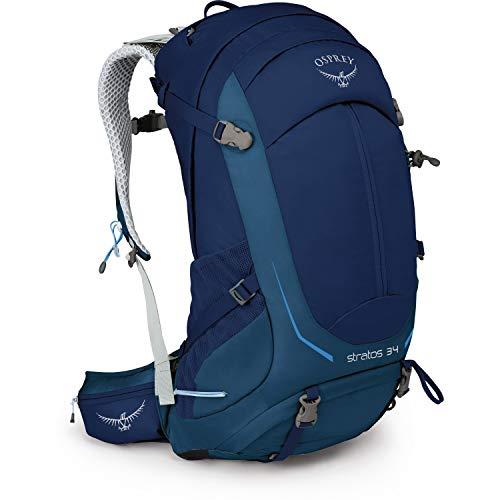 Osprey Packs Stratos 34 Hiking Backpack, Eclipse Blue, Small/Medium