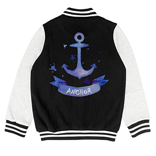 GUISER Blue Marine Anchor Cool Logo Children Varsity Jacket Kids Funny Cozy Coats