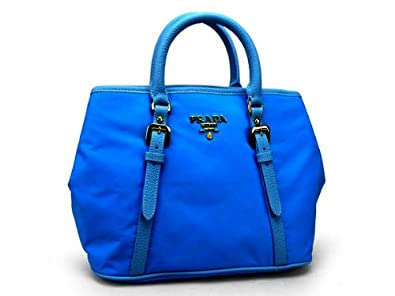 ce4ed34311bc Prada Cobalto Blue Nylon Tessuto Handbag Model BN1841: Handbags ...
