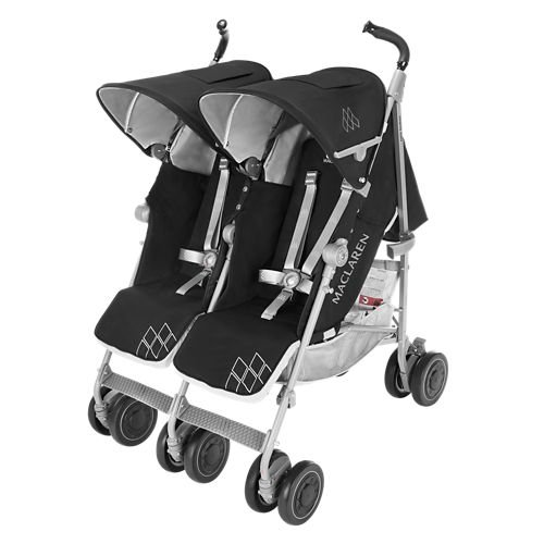 Maclaren Twin Techno Stroller, Black by Maclaren