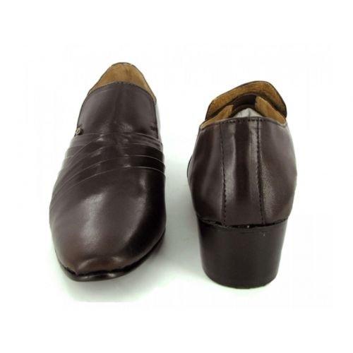 sortie d'usine PROMOS Lucini Lacets Chaussures En Cuir Marron Mariage Homme Pur Bureau Brun abordable dernier rgYsW9vv8