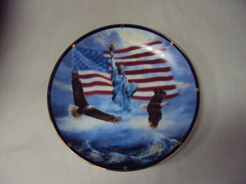 The Danbury Mint: America Stands Proud Collectors Plate -