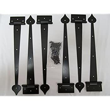 Set Of 4 Decorative Carriage House Garage Door Hinges