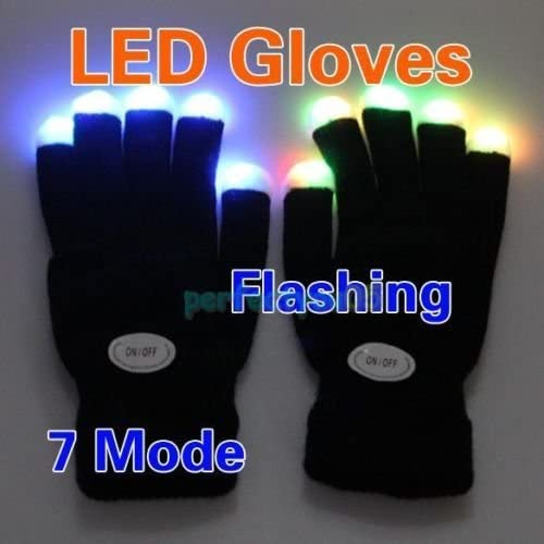 Useful LED Light Beam Gloves Flashing Rave Finger Up Lighting Party Glow Work CA