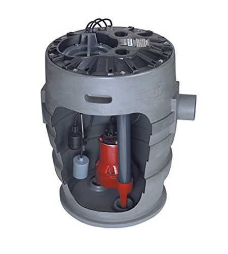 Liberty Pumps P382LE51V-2/A2-EYE 1/2 hp Pre-Assembled Simplex Sewage System with NightEye Technology, 25' Cord and 2'' Discharge by Liberty Pumps