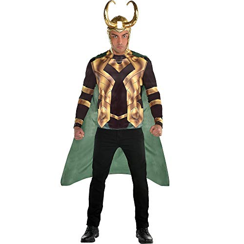 Suit Yourself Loki Accessory Kit for Adults, 3 Pieces, Includes a Long-Sleeve Shirt, a Cape, and a Headpiece with Horns]()