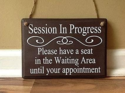 amazon com emily session in progress please have a seat door hanger