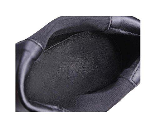 breve tacchi genuino scarpe piede Suggerimento Stivali 39 elastico caviglia stivali 34 cuoio Chunky donna IzFqx5ExWw