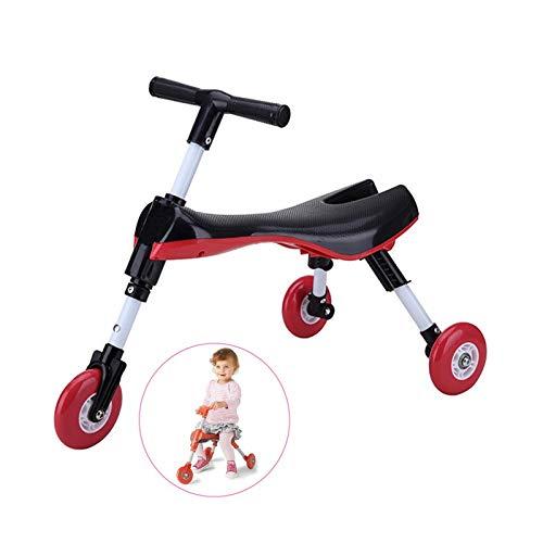 envío gratis Zuqiudashi Bike Bike Bike Scooter Plegable Interior para niños al Aire Libre Deslizamiento Triciclo Paseo en Juguete Ruedas sin rasguños No Requiere Montaje,negro  venta directa de fábrica