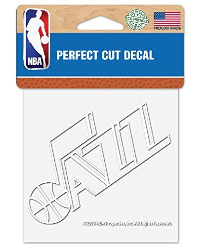 "WinCraft NBA Utah Jazz 4""x4"" inch White Decal Sticker"