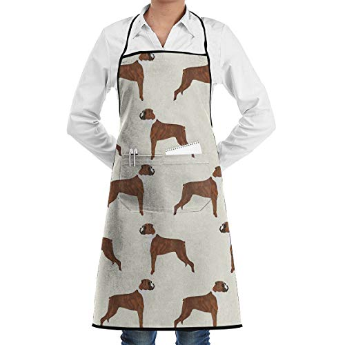 - LOVE CORNER Crafting Salon Holidays Kitchen Apron Roomy Pocket Waterproof Fashion Apron Boys Girls - Boxer Dog Pattern Dog Lover Pet Apron with Roomy Pocket Waiter Hostess Apron
