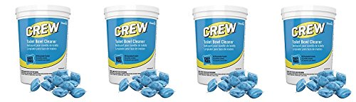 Diversey Crew Easy Paks Toilet Bowl Cleaner, 2 Tubs x 90 Dissolvable Packets, .5 oz. Packet (180 Total Dissolvable Packets) (4-Pack) by Diversey