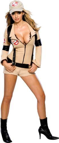 Sexy Ghostbusters Costumes (Secret Wishes Women's Sexy Ghostbuster Costume, Tan, S (4/6))