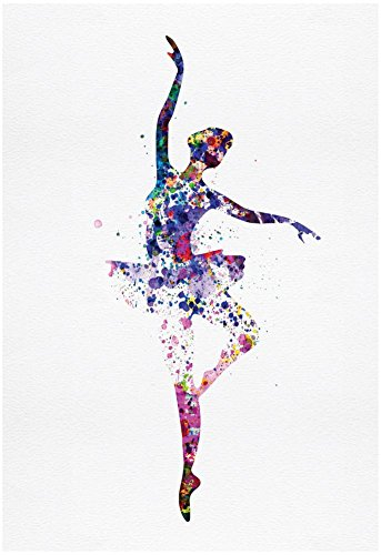 Ballerina Dancing Watercolor 2 Poster by Irina March 13 x 19in